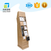 LETUO 2017 customized medicine floor cardboard display stand with high quality