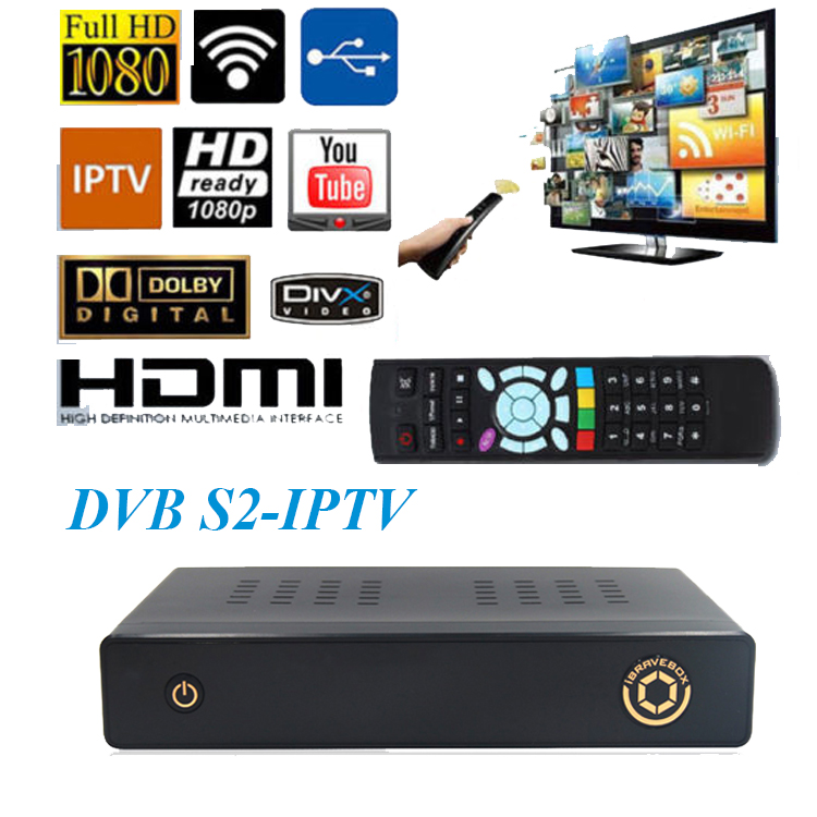 Beautiful appearance Built-in paid IPTV 2gb ram openbox v8s ibravebox f10s satellite receiver cloud ibox dvb-s2 iptv