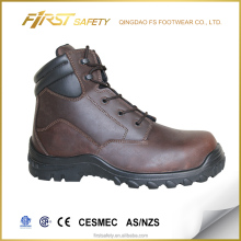 FS1369 Brown Oil Crazy Horse Leather ASTM Steel Toe Desma Injection PU/Rubber Outsole Ankle Safety Boots Work Boots