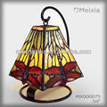 MX000075 china wholesale stained glass mini tiffany dragonfly desk lamp shade for home decoration piece