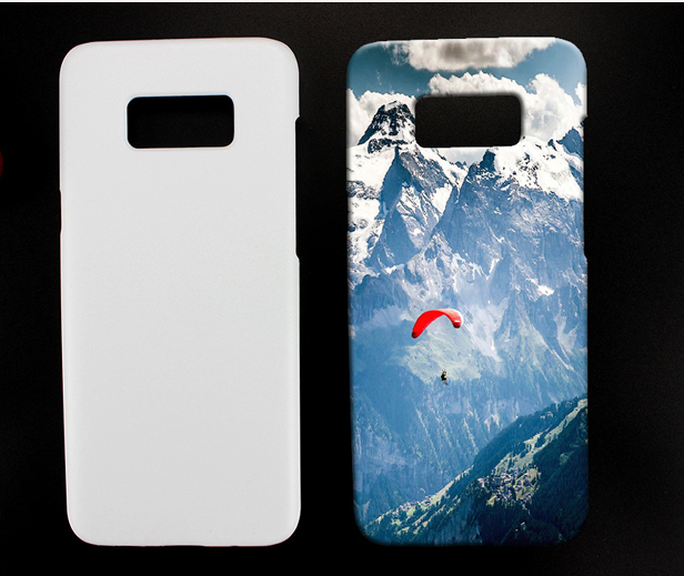 Factory White Glossy Matte Custom Flexible Case 3D Sublimation For Samsung s8 plus