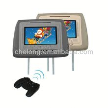 7 inch headrest entertainment dvd player headrest car dvd with zipper cover