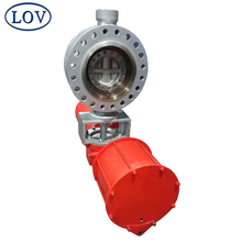 WCB CF8 CF8M Triple Offset Butterfly Valve With Pneumatic Actuator