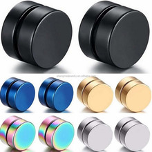 Fashion Round Stainless steel magnetic no hole earring