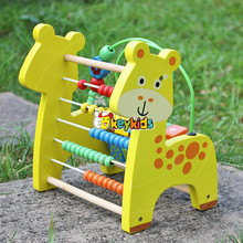 2017 wholesale cheap preschool kids wooden beads maze toy educational children wooden beads maze toy W11B126