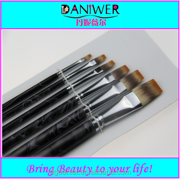 2015 Professional 6pcs flat Artists paint brushes Synthetic paint brush set free samples