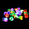 Fashion mixed styles soft TPR halloween ring,flash glowing led finger ring,halloween rings for kid
