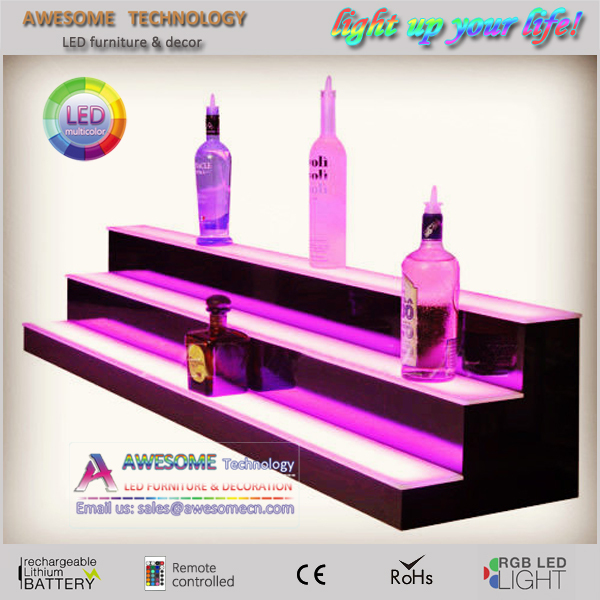 Battery Operated Lighted Bottle Displays Illuminated Bar