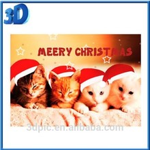 ThreeD Christmas 3D Lenticular greeting cards/ postcard