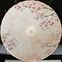 Chinese Classic Style Windproof Parasols Handmade Craft Paper Umbrella
