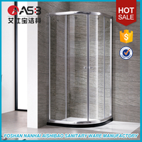 aluminum profile frame small oval shape shower enclosures 700 x 700mm