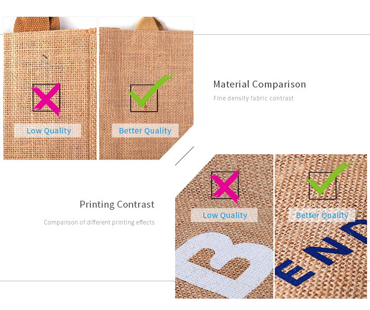 Wholesale Personalized Eco-Friendly Shopping Packaging Jute Tote Bags