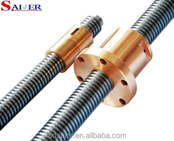 SFU1204 lead screw design lead screw drawing for manufacture
