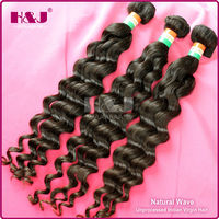 100 Unprocessed double weft no shedding human hair in thailand