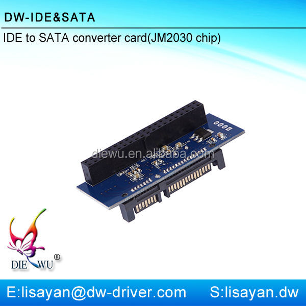 JM20330 40 pin IDE female to 7+15 pin SATA ethernet adapter