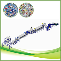 PE PP waste plastic recycling system with hot washer