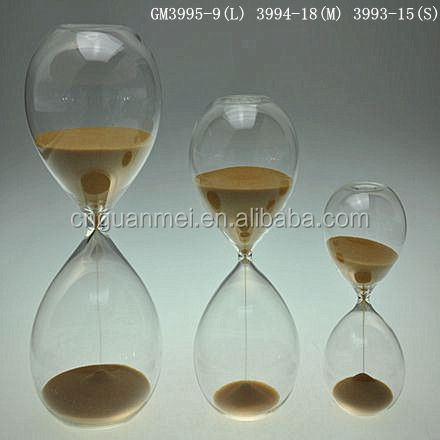 Khaki Large Hourglass Sand Timer for Kids