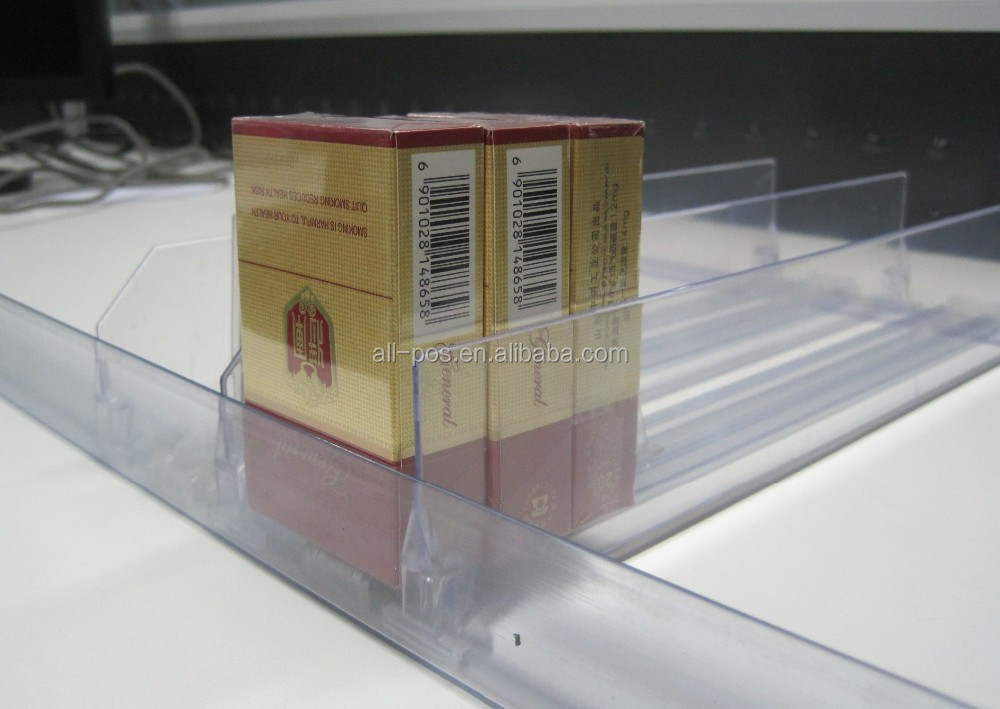 clear plastic shelf divider for supermarket