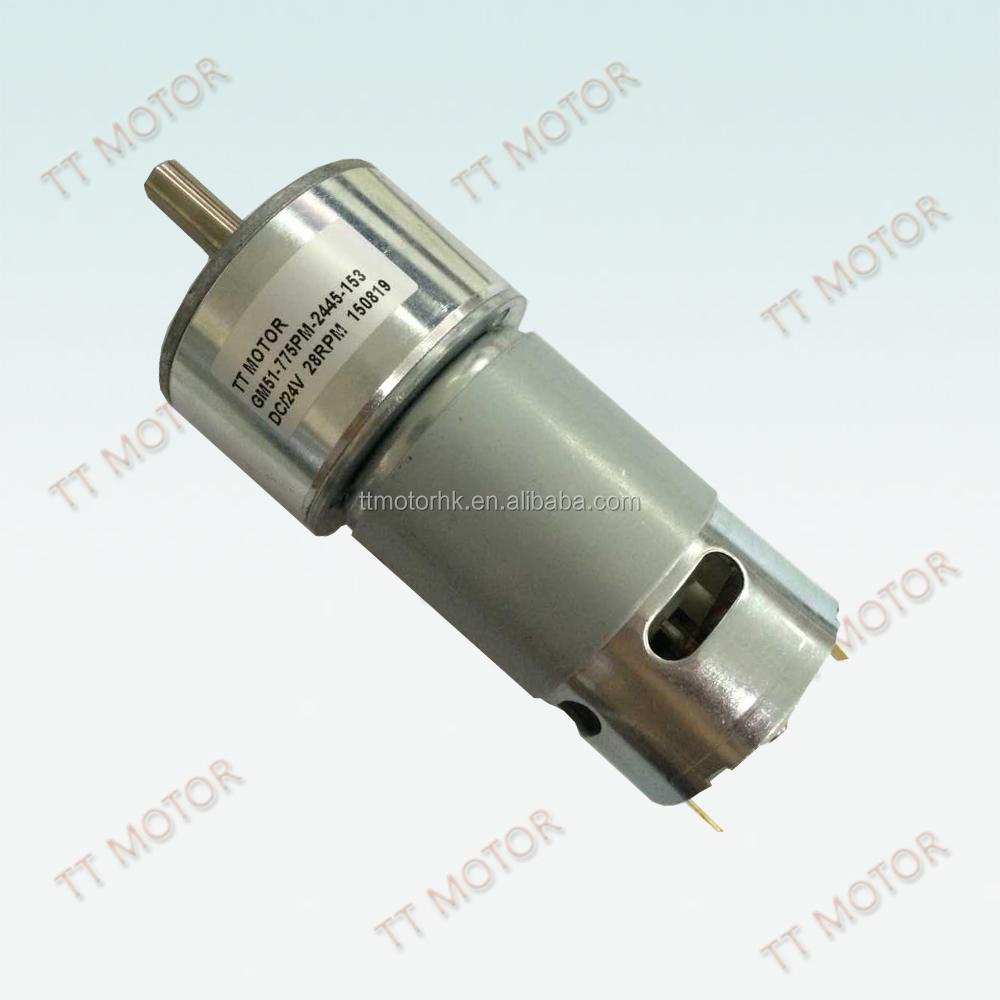 Brushed high power 12 volt geared motor for generator for 12 volt gear motor