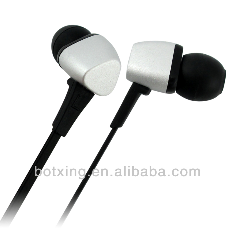 White triangle shape earbuds fancy color headphones