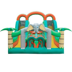inflatable jungle obstacle course/Elephant inflatable jumping castle/large inflatable jungle bouncer