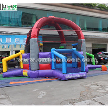 Multiple use outdoor sport inflatable defender dome for basketball and football game