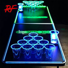 factory directly 8ft Professional Beer Pong Table with led