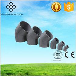 factory direct price pvc pipe fitting 45 degree elbow