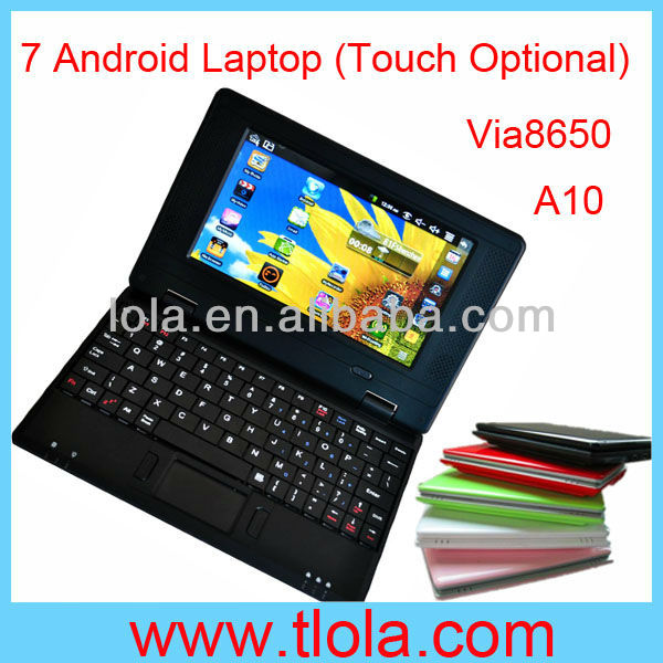 Cheap 7inch Notebook Via8650 Android/Windows CE OS 256MB RAM 4GB HDD
