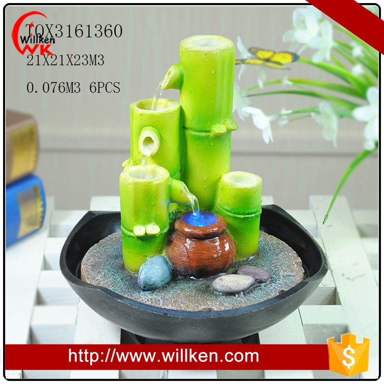 Home waterfall beautiful bamboo water fountain for sale