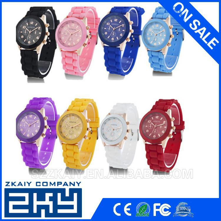 Alibaba water resistant silicone sport gold watches wrist watches silicone watch