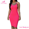Wholesale Backless Pink Sleeveless Sexy Party Cocktail Dress