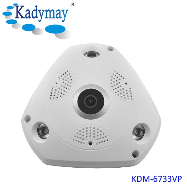 Newest WIFI IP Camera HD 1.3 Megapixel 20M IR 3D VR Camera With  360 Degree Panoramic Camera With Fish-eye Lens
