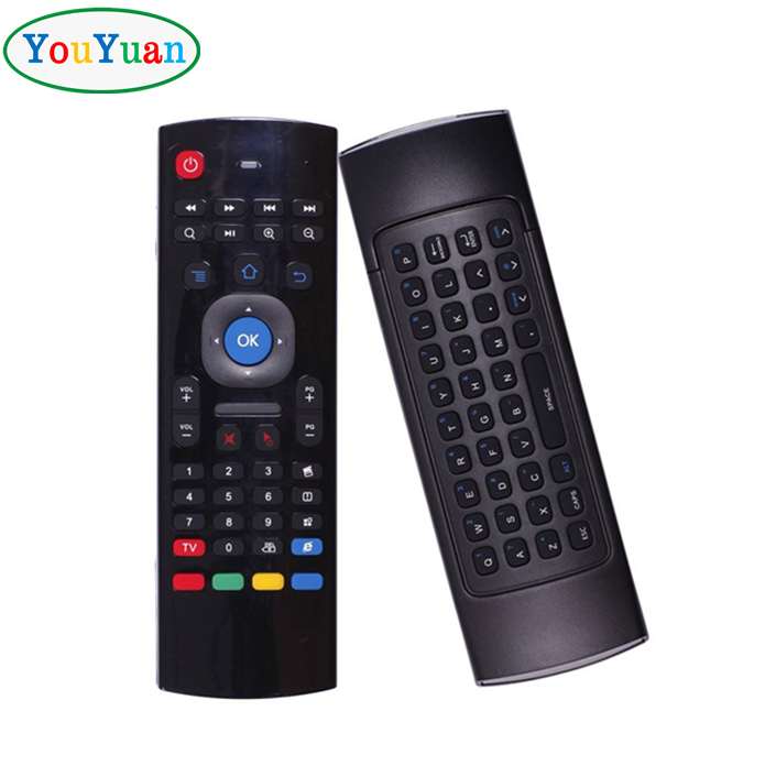 Wholesale price MX3 Air mouse remote control for android tv box 2.4G wireless keyboard