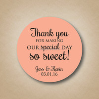 THANK YOU Sticker Labels Seals, Gift stickers for Wedding seals
