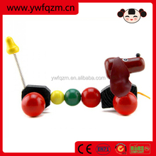 2014 New Style Handmade Wooden Pull Dog Toy