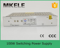 S-100-24 China electronics CE approved professional adjustable micro variable constant voltage 100w 24v switch power supply