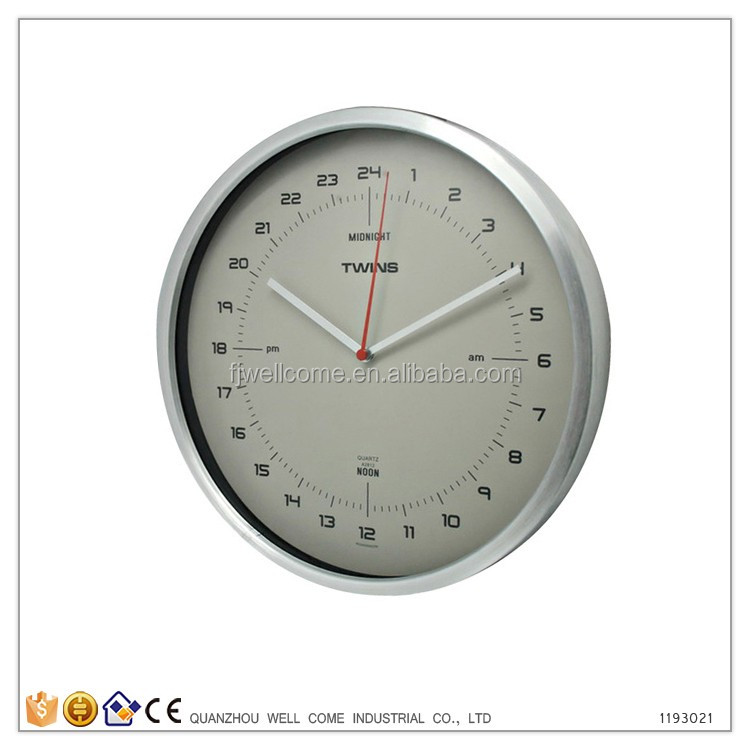 Hot Sale Products Metal 24 Hour Analog Wall Clock