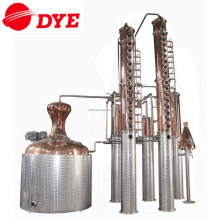 3000L red copper spirit alcohol distillation equipment for making gin whisky bradndy rum vodka tequlia