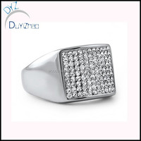 silver micro pave large ring