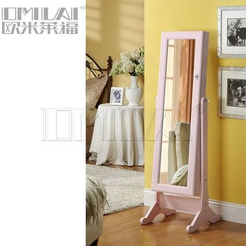 dresser jewelry mirror stand in pink