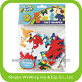 Assorted Color Adhesive Animal Felt Shape Stickers
