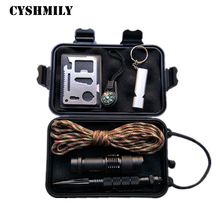 CYSHMILY Emergency Survival Gear Kit 11 in 1 Survival Tools Outdoor for Traveling Hiking Biking