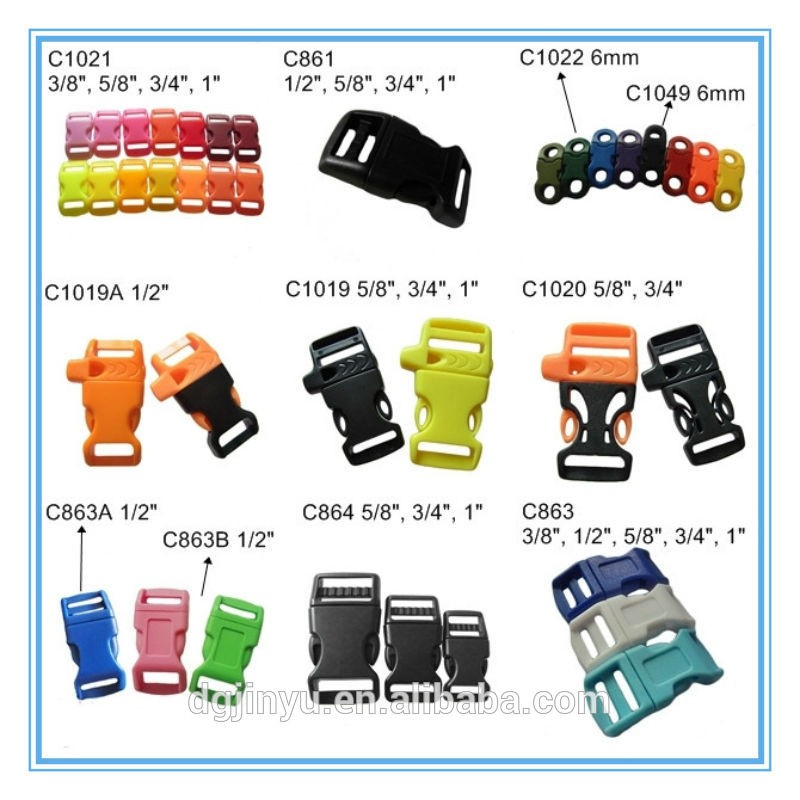 adjustable plastic web strap buckle for luggage