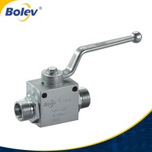 Factory supply 100% tested with fixing <strong>holes</strong> hydraulic high pressure 2 way ball valve