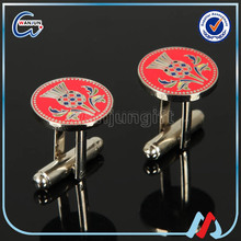 blue crystal Novelty Steel Cufflinks For Mens Shirts