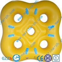 2016 summer Cutom Logo Beach pool Rubber PVC/Hypalon Inflatable Boat Double air chamber swimming laps