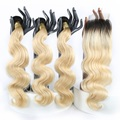 XBL HAIR 8A 9A 10A 100% 613 Virgin Mink Brazilian Human Hair 3 Bundles with Closure Drop Shipping No Tangle No Shed Dyeable
