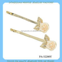 resin flower decorative hair clips beautiful hot sale hair pin