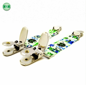 Cute design Printed elastic tape with stainless steel mitten clips